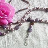Purple Agate Lanyard
