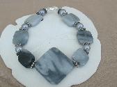 Grey Chalk Marble Bracelet
