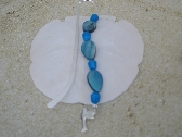 Blue River and Chalk Marble Metal Bookmark