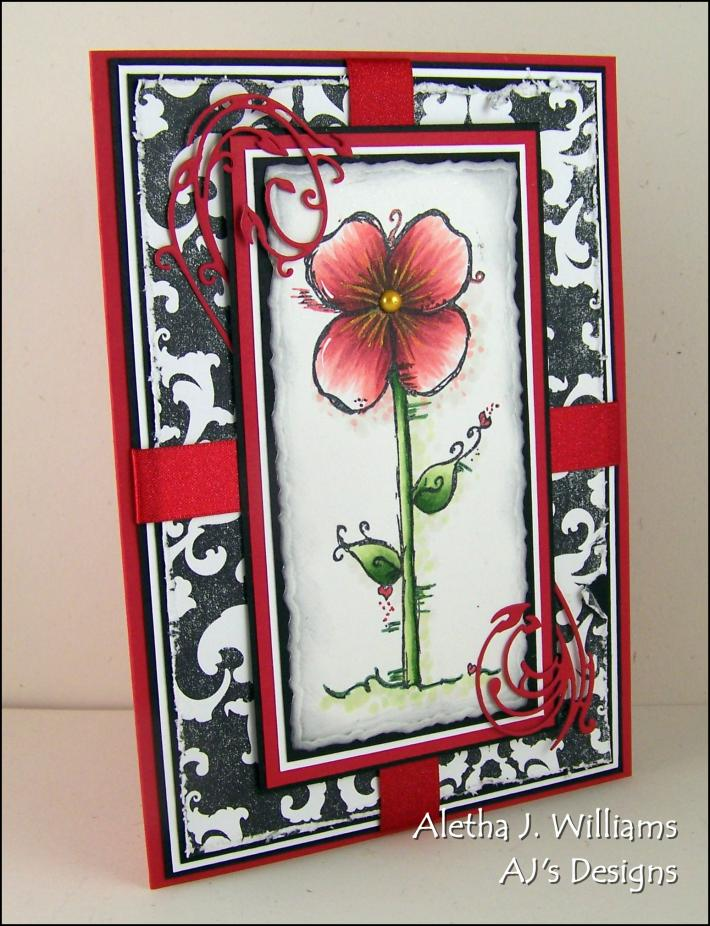 Bloom and Simplify handmade greeting card by ajsdesigns