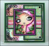 Wonder Nymph handmade greeting card by ajsdesigns