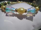 Swarovski Crystal Fresh Water Pearl and Mother of Pearl Bracelet