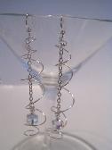 Swarvoski Silver SP Swirl Cube Earrings