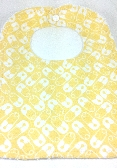 Baby Bib With Snap    Baby Safety Pins    Yellow