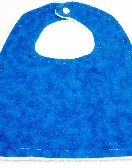 Bib With Snap  Blue Tie Dye