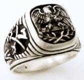 American eagle US Seventh Cavalry ring STERLING SILVER