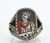 Julius Ceasar ring sterling silver