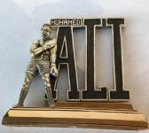 Mohamed Ali statuette sterling silver Bronze