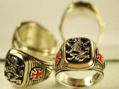 Heraldic Lion ring sterling silver