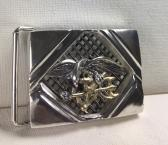 Seal Team six Mens belt buckle Sterling silver