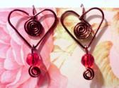 Copper Hearts and Swirls Earrings