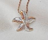 Fine Silver Starfish Pendant 1