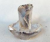 Fine Silver Egg Shell Vase Sculpture OOAK