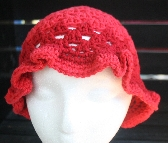 Crochet Summer Hat in Red