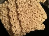 MAIZE AND GOLD METALLIC CROCHETED SCARF