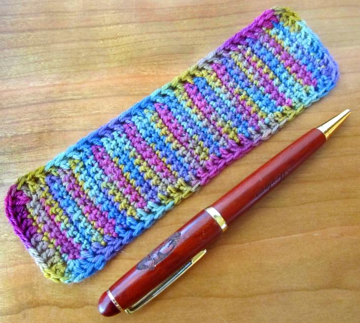 Rainbow Crochet Bookmark