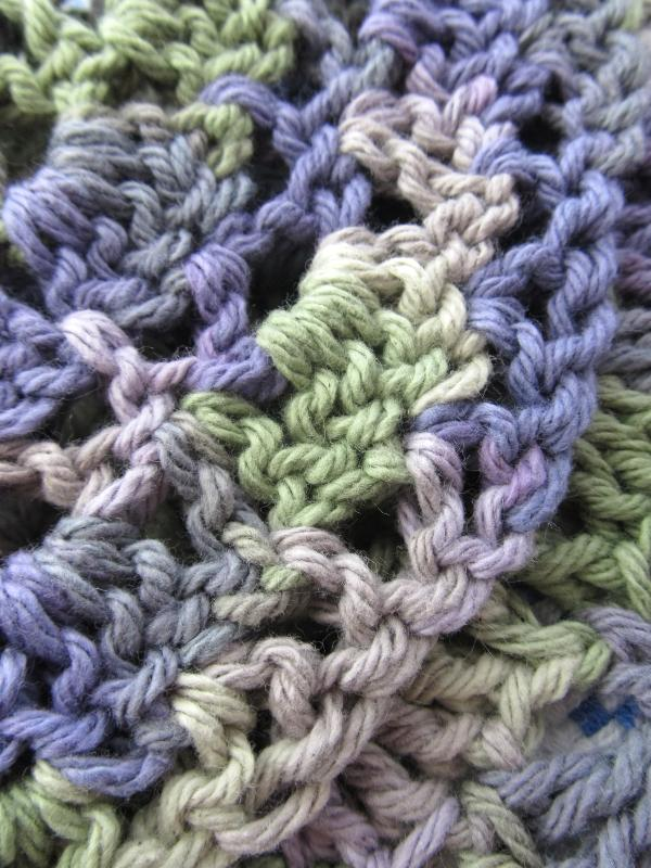 Green and Purple Dish Cloth