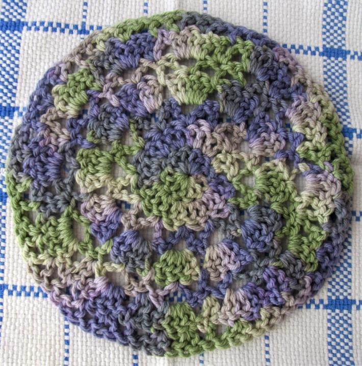 Green and Purple Dish Cloth