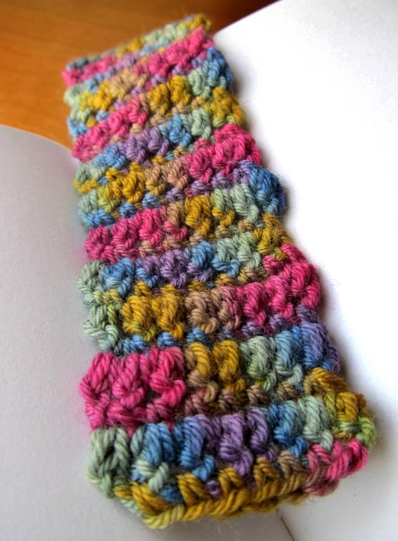 Colorful Chunky Crochet Bookmark