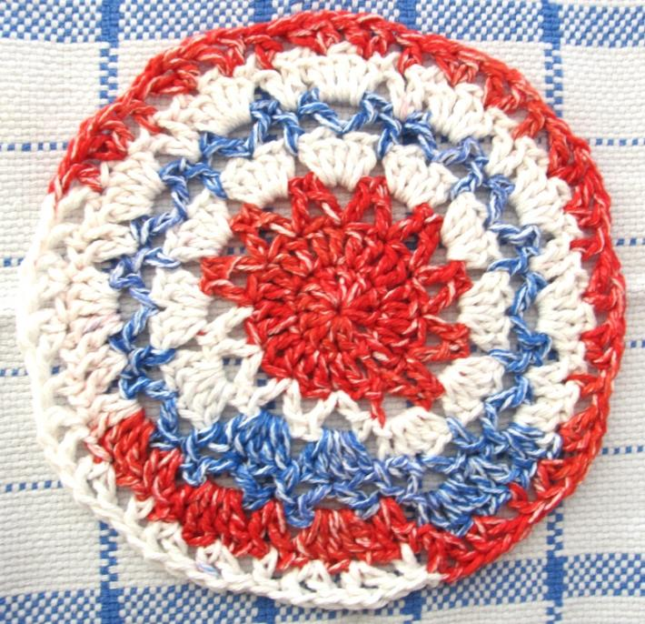 Patriotic Cotton Crochet Dish Cloth