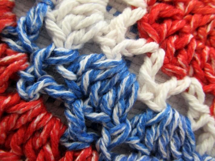 Patriotic Cotton Crochet Dish Cloth