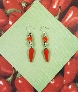 Red Coral and Porcelain Peppers Earrings by TamsJewelry