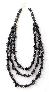 Handmade Triple Stranded Gunmetal Black Hemalyke Nugget Necklace By TamsJewelry
