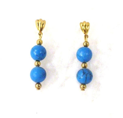 Turquoise Post Earrings By TamsJewelry