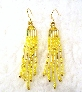 Yellow and Gold Glass Seed Bead Earrings By TamsJewelry