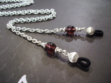 Amethyst And Silver Chain Eyeglass Lanyard By TamsJewelry