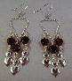Twisted silver heart with Red Garnet hearts and silver heart Earrings by TamsJewelry