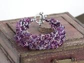 Wire Crochet Cuff Bracelet Viola