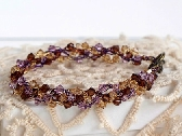 Smoky Purple Wire Crochet Braidlet with Swarovski Crystals