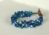 Sea Blue Wire Crochet Braided Bracelet
