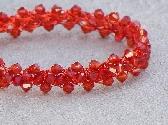 Firebrick Swarovski Crystal Bracelet
