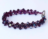 Garnet Swarovski Crystal Bracelet