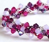 Violet Opal Swarovski Crystal Bracelet