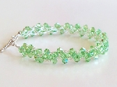 Peridot Wire Crochet Braided Bracelet FREE USPS First Class Shipping
