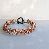 NEW Bronze Gold Wire Crochet Bracelet