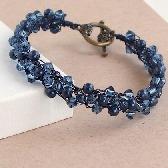 Midnight Swarovski Pearl Crystal Bracelet