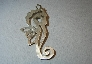 Seahorse pendant handmade from sterling silver