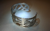 Sterling silver cuff bracelet with cut out design