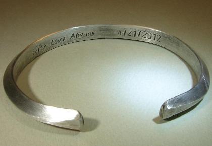 Sterling silver massive triangular cuff bracelet in ultra modern