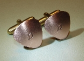 Copper guitar pick cuff links for the music lover