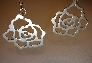 Sterling silver rose earrings art nouveau inspired