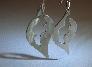 Sterling silver leaf earrings in Art Deco