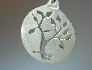 Sterling silver tree pendant cut out
