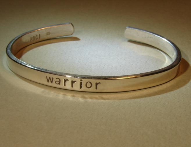 Warrior cuff bracelet in sterling silver