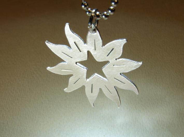 Sterling silver star in the sun pendant