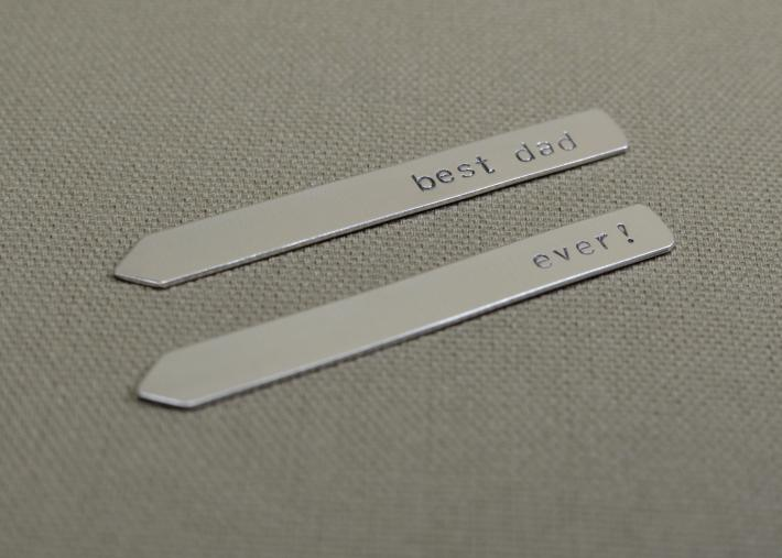 Sterling silver collar stays handmade for the best dad ever